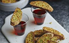These pistachio, apricot & rosemary biscotti are ideal for when you're catching up with a friend at   Christmas