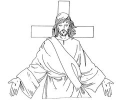 """Christ Our Savior Catholic Coloring Page.  """"I have come that they may have life, and have it abundantly"""" John 10:10."""