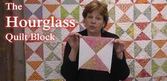 The Hourglass Quilt Block - Learn to Quilt!, via YouTube.