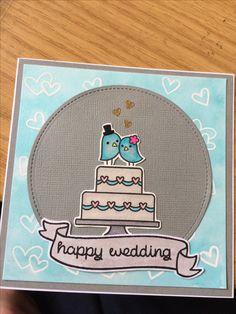 Used Lawn fawn happy wedding stamp set