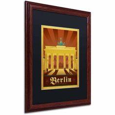 Trademark Fine Art Berlin, Germany Canvas Art by Anderson Design Group, Black Matte, Wood Frame, Size: 11 x 14