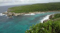 Porte d'enfer à anse Bertrand. Guadeloupe