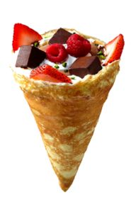 Eight Turn Crepe offers savory crepes, sweet crepes and even gluten free crepes in NYC. For breakfast, lunch or dinner, Eight Turn Crepe promises a meal unlike any you've ever had. Savory Crepes, Savory Snacks, Gluten Free Crepes, Cone, Crepe Cake, Crepe Recipes, Cafe Food, Homemade Chocolate, Food Truck