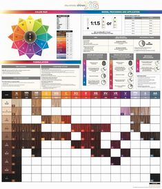 Paul Mitchell The Color Xg Color Chart July 2015 Haircolor In