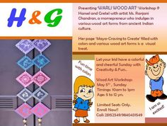 Warli wood art workshop!! Limited registrations