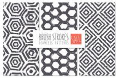 Brush Strokes Seamless Patterns SALE