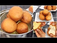 How to make Bofrot Nigerian Meat Pie, Ghanaian Food, Scotch Eggs, Frozen Yoghurt, Beignets, Yummy Snacks, Food For Thought, Street Food, Doughnut