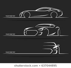 Find Set of vintage classic sports car silhouettes, outlines, contours isolated on dark background. Vector illustration Stock Images in HD and millions of other royalty-free stock photos, illustrations, and vectors in the Shutterstock collection. Car Silhouette, Silhouette Vector, Car Logo Design, Web Design, Silhouettes, Porsche 911 Gt2, Car Vector, Car Logos, Auto Logos