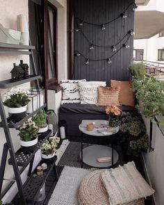 Small Balcony Design, Small Balcony Garden, Small Balcony Decor, Small Outdoor Spaces, Small Patio, Balcony Ideas, Small Balcony Furniture, Balcony Gardening, Indoor Garden