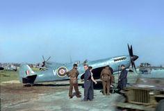 https://flic.kr/p/xHoZdu | Spitfire PR mk.XI, 1944. |  16 Sqn. Spitfire PR mk. XI's believed to be at Melsbroek, Belguim. Photo via Mark Skinner