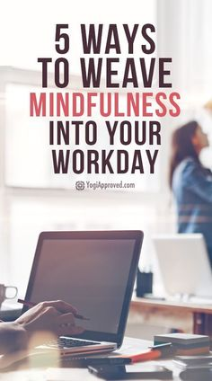 Workplace stress can get the best of us. Use these 5 tips to weave mindfulness at work into your daily life to relieve stress and anxiety at the office. Mindfulness At Work, Mindfulness Books, Mindfulness Exercises, Mindfulness Activities, Meditation Exercises, Mindfulness In The Workplace, Work Stress, Stress And Anxiety, Anxiety At Work