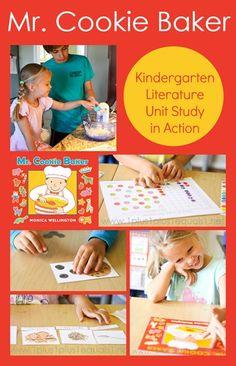 Mr. Cookie Baker Literature Unit in Action ~ Homeschool Kindergarten