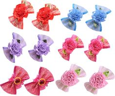 Yagopet 20pcs/10pairs Dog Hair Bows 2.2' Topknot Gold Bowknot Rose Flower Rubber Bands Nice Dog Topknot Bows Pet Dog Grooming Bows Pet Supplies Hair Accessories ** You can get more details by clicking on the image. (This is an affiliate link and I receive a commission for the sales)