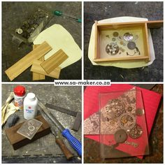 ATC watch cogs cast into a clear resin card