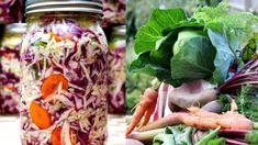 """Také máte pocit, že poslední dobou v gastronomii neustále narážíte na slovíčko """"pickles"""" nebo na jeho český ekvivalent – kvašenou zeleninu? Něco na tom bude. Kimchi, Preserves, Pickles, Cabbage, Salads, Food And Drink, Canning, Vegetables, Hana"""
