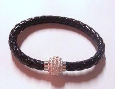 black leather bracelet , black bracelet , womens bracelet , leather bracelet