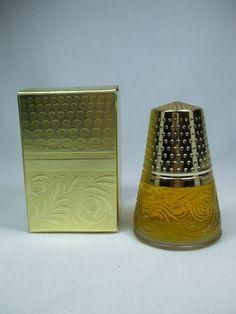 Vintage Avon Golden Thimble Charism cologne $10