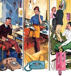 mid century telephones