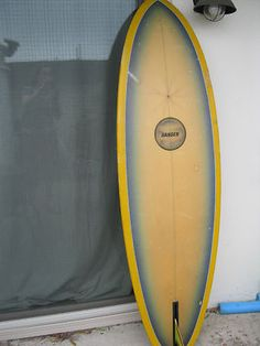 Vintage Surfboard Hansen 6' board surf beach one fin 1 Old School Skool