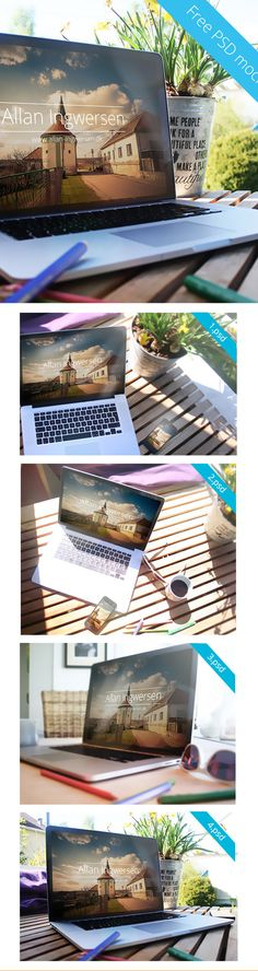 Set of MacBook Pro and iPhone Showcase Mock up 4 PSD Package - Free!!! - 248MB