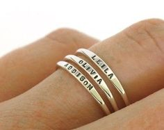 Name Ring Custom Name Personalized Ring Dainty Name by JewelryRB