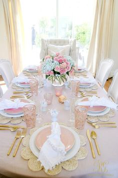 Blush Table for Easter or Spring - Randi Garrett Design