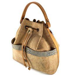 Genuine cork leather Bag,Soulder Bag,-FREE SHIPPING-,Handmade bag,Vegan Product…