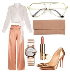 """Untitled #27"" by frid1445 on Polyvore featuring Edun, Gucci, Lori's Shoes and Christian Louboutin"