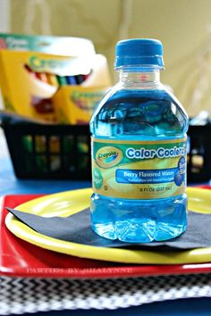 Must have Crayola colored water at a Back to School party