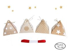 4 Schachteln Pyramiden Weihnachten