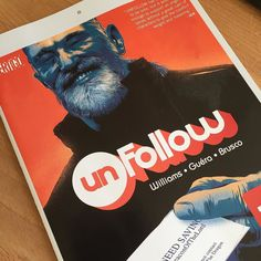 On sale today #unfollow issue six with cover art by me #comics #illustration #vertigo #dc #robwilliams #rmguera #businesscard #dragon by matttaylordraws