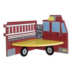 firetruck shelf omg my son needs this too!