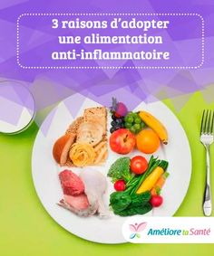 3 raisons d'adopter une alimentation anti-inflammatoire   Une alimentation anti-inflammatoire exclut les aliments transformés et privilégie la consommation d'aliments naturels, afin de garantir un meilleur bien-être général. Ce régime alimentaire n'est pas seulement réservé aux personnes qui désirent perdre du poids : il s'agit d'un véritable style de vie. Nutrition, Diet, Afin, Breakfast, Style, Anti Inflammatory Foods, Natural Foods, Health Foods, Healthy Eats