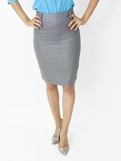 Pencil Skirt - Gray