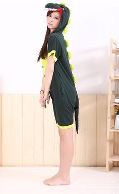 facb2b82d8 Green Dinosaur Animal Adult Spring and Summer Kigurumi Onesie A Writer s  Life