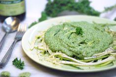 Our Earth Land: Zucchini 'Spaghetti' With Kale Pesto Sauce