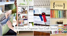 19 Ways to organize your creative supplies