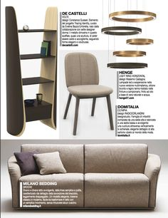 Dentro Casa magazine, sofa and sofa bed Groove by Milano Bedding