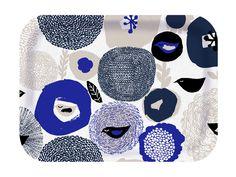 Designed by Matti Pikkujämsä Material: Scandinavian Birch Wood Size: Dishwasher Safe Square Tray, Wood Sizes, Wood Tray, Blue Square, Scandinavian, Ceramics, Wool, Finland, Design
