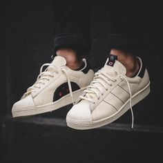 premium selection f01cd b2c73 Kasina from Seoul continue the adidas Consortium World Tour with their  design of the adidas Superstar It features an off-white leather…
