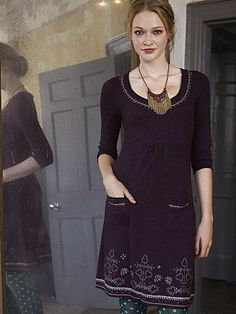 The Northern Lights Dress in Blackcurrant- the perfect dress for the festive season