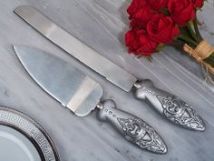 Cake Knife / Server Set Royalty  Engraved For Free by BubbaCo, $23.99