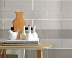 Barista Wall Tile - Today's retro style meets subway tile in an antique chic look that pays homage to a handcrafted palette of gleaming neutrals