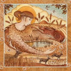 Lammas - 1st August - Grain Mother Ker spreads Her Golden cloak across the land. She brings the bountiful abundance of the harvest. A time of gratitude for all that we have.