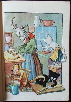Veselé příhody kozy Lujzy a kocoura Bobka, ilustrace Ondřej Sekora