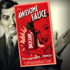 Awesome Sauce Soft Enamel Pin by ClayGrahamArt on Etsy
