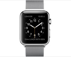 Apple WATCH 42mm Stainless Steel Case with Milanese Loop - Sapphire crystal Retina display with Force Touch - Ceramic back - Digital Crown - Heart rate sensor, accelerometer and gyroscope - Ambient light sensor - Speaker and microphone - Wi-Fi (802.11b/g/n 2.4GHz) - Bluetooth 4.0 - Up to 18 hours SHOP NOW at techinthebasket.com