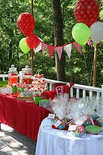 Elianna wants a Strawberry Shortcake/Strawberry Birthday Party Watermelon Birthday Parties, First Birthday Parties, First Birthdays, 75th Birthday, Third Birthday, Frozen Birthday, Strawberry Shortcake Birthday, Strawberry Baby, Strawberry Wine