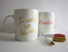 """I woke up like this"" DIY Mug"