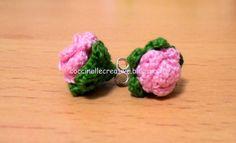 Orecchini uncinetto, fiore, per informazione e schema ⇩ http://coccinellecreative.blogspot.it/2013/09/orecchini-rosa-uncinetto.html